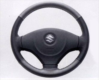 正牌的MA15S本皮革驾驶盘覆盖物零件铃木正牌的零部件方向盘覆盖物solio选项配饰用品