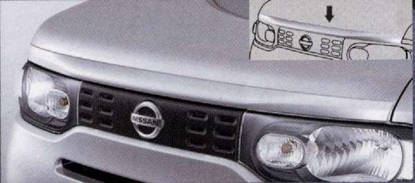 『キューブ』 純正 Z12 フードモールディング(#CAH・#QAB) パーツ 日産純正部品 CUBE オプション アクセサリー 用品
