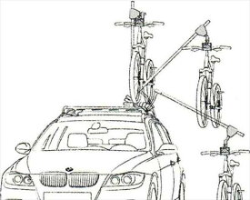 X3 パーツ バイシクル・リフト(1台分) BMW純正部品 WX20 WY20 WX35 オプション アクセサリー 用品 純正 送料無料