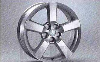 欧蓝德铝合金轮圈 (18 英寸,5 辐) 从一个卖三菱原装配件欧蓝德部分 cw5w 部分真正三菱三菱三菱真正三菱配件可供选择