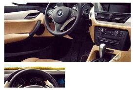 X1 パーツ マルチファンクション・スポーツ・レザー・ステアリング・ホイール(2010.9〜)用のステアリング・トリム(ブラック つやあり) ※本体は別売です BMW純正部品 VL25 VM20 オプション アクセサリー 用品 純正 ハンドル