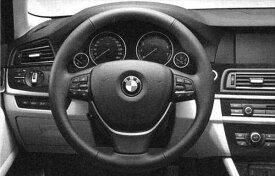 5 パーツ マルチファンクション・スポーツ・レザー・ステアリング・ホイール取付用デコレーティブ・トリムのみ(ブラック) ※本体は別売り BMW純正部品 オプション アクセサリー 用品 純正 ハンドル