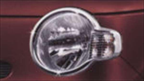 『ミラココア』 純正 L675S L685S ヘッドランプガーニッシュ(メッキ) パーツ ダイハツ純正部品 ヘッドライトパネル ドレスアップ カスタム miracocoa オプション アクセサリー 用品