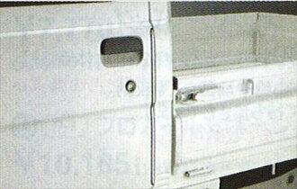 순정 S201 S211 도어 엣지 몰(스테인리스) 2개로 1 세트 파트 다이하츠 순정부품 도어 몰 보호 원포인트 hijettruck 옵션 액세서리 용품