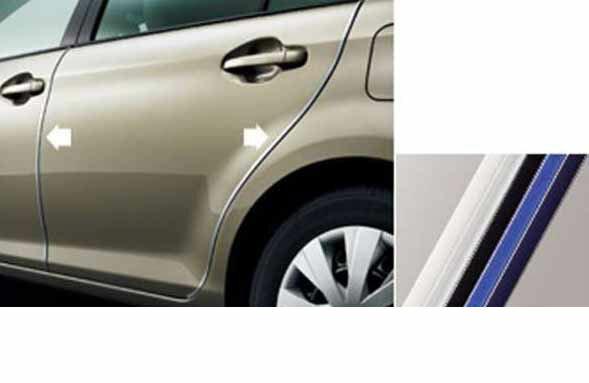 『カローラアクシオ』 純正 NKE165 NRE161 NZE161 NRE160 NZE164 ドアエッジプロテクター 樹脂製 2本入 パーツ トヨタ純正部品 ドアモール ドアエッジモール axio オプション アクセサリー 用品