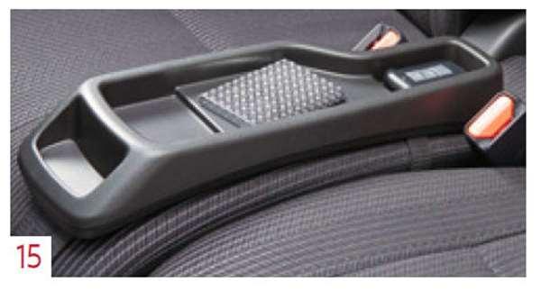 『デイズ ルークス』 純正 B21A シートコンソール ブラック(フロントシートクッション置き、ベルト固定) パーツ 日産純正部品 オプション アクセサリー 用品