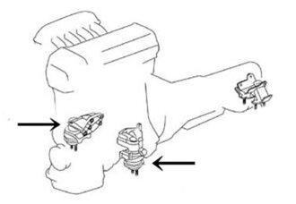 TRD引擎座骑前台[12360-SE120]arutettsuajita JCE15W GXE10W合适SXE10(2个需要的个数)
