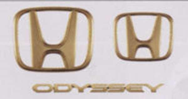 『オデッセイ』 純正 RB3 RB4 ゴールドエンブレム (Hマーク2個+車名エンブレム) パーツ ホンダ純正部品 ドレスアップ ワンポイント odyssey オプション アクセサリー 用品