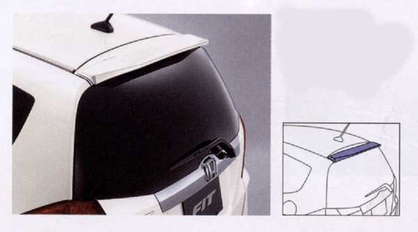 『フィット』 純正 GE6 GE7 GE8 GE9 GP1 GP4 テールゲートスポイラー 小型タイプ パーツ ホンダ純正部品 ルーフスポイラー リアスポイラー リヤスポイラー FIT オプション アクセサリー 用品