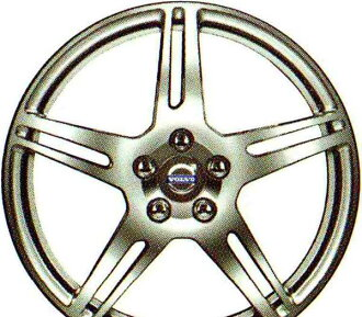 V60 S60 部分合金輪圈米爾 (光銀 b) 8 × 18 英寸真正沃爾沃原裝配件 FB4164T FB6304T 可選配件