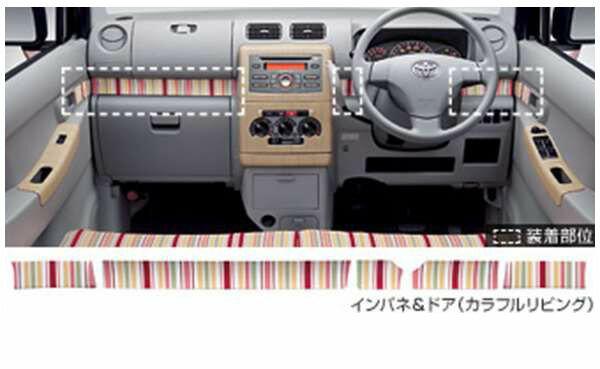 『ピクシススペース』 純正 L575A L585A インテリアパネル インパネ&ドアカラフルリビング パーツ トヨタ純正部品 内装パネル pixis オプション アクセサリー 用品