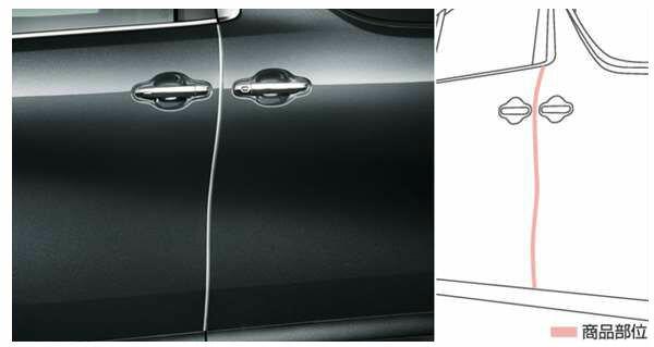 【ヴェルファイア】純正 AYH30W GGH30W AGH30W GGH35W AGH35W GGH35W ドアエッジプロテクター(メッキ調) パーツ トヨタ純正部品 メッキ ドアモール ドアエッジモール オプション アクセサリー 用品