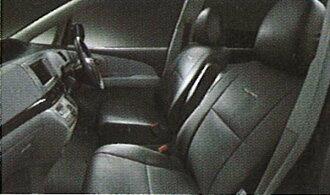 純正的ACR50皮革風格座套黑色零件豐田純正零部件座位覆蓋物污垢席保護estima選項配飾用品
