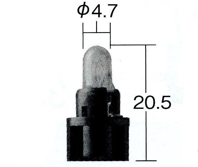 タクティー 計器灯 表示灯用 (パネル ジグナルランプ) ウェッジベース 品番[ V91191156 ] 形/色 T4.7 グリーン タコメーター用 1個『メール便可能』