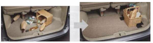 ラゲッジシステム カーペットセット セレナ C25 CC25 NC25 CNC25 日産純正 ラゲッジカーペット ラゲージカーペット ラゲージマット SERENA パーツ 部品 オプション