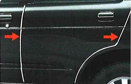 ドアエッジモール テリオス J131 ダイハツ純正 メッキ terios パーツ 部品 オプション