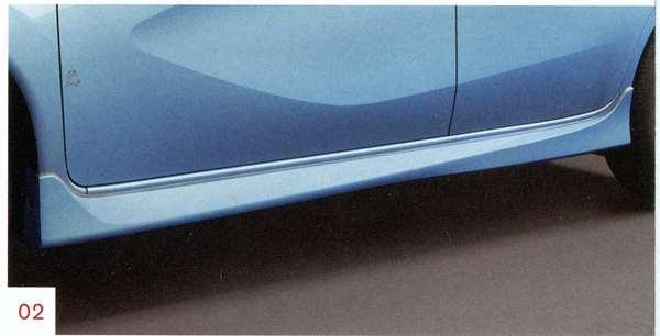サイドシルプロテクター K23、KAD、KH3、NAH、NAR、RAW ノート E12 日産純正 サイドスポイラー エアロパーツ カスタム NOTE パーツ 部品 オプション