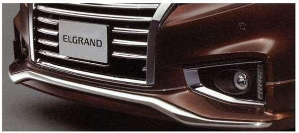 フロントクロームプロテクター(ブリリアントシルバー:k23) MFJEB エルグランド PE52 日産純正 ELGRAND パーツ 部品 オプション