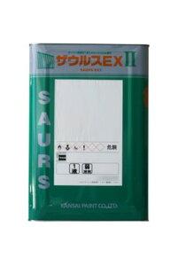 【送料無料】カンペ ザウルスEX2(白、グレー、赤さび色、黒さび色:艶消し)16kg<関西ペイント>一液さび止め塗料