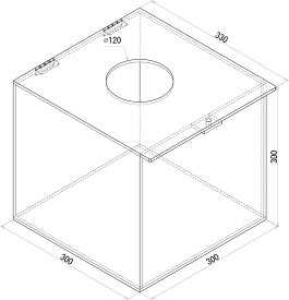 SP アクリル抽選箱 開閉式 透明 (W300xD330xH300)