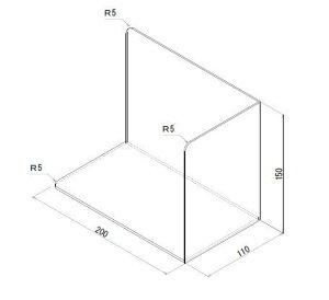 SP アクリルブックエンド 透明 3.0mm (W200xD110xH150)