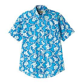 【10%オフクーポン配布中】アロハシャツ メンズ レディース| アロハ シャツ 父の日 おしゃれ 作業着 作業服 制服 ユニフォーム 男女兼用 半袖シャツ 半そで 夏 クールビズ 半袖 夏用 夏服 大きいサイズ ブルー ピンク パープル 青 ハワイアンシャツ