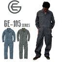 GRACE ENGINEERS つなぎ メンズ オールシーズン GE-105 綿100% ブルー/ブラック S-3L |おしゃれ メンズ 長袖 ツナギ …