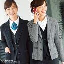 事務服 ニットジャケット 9165 ブラック(黒) グレー 企業制服 会社 かわいい おしゃれ レディース サイズ(S〜3L) | …