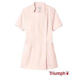 Triumph(トリンプ)白衣 TWS-116-PK 女性用 チュニック ジャケット 長めの丈でヒップラインも安心 | レディース エステ ユニフォーム ナース服 医療用 医師 制服 医療 大きいサイズ ナース 看護服【ラッキーシール対応】