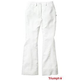 白衣 ズボン 女性 Triumph トリンプ 美脚パンツ TXM-302-WH | エステ レディース 制服 介護士 おしゃれ 施術 看護師 医療用白衣 病院 整体師 ブランド白衣 医療 女性用 ユニフォーム ユニホーム【ラッキーシール対応】
