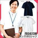 【ポロシャツ】【メンズ】【カットソー】FB5023Mユニフォーム制服チェックかわいいナチュラルアクセント