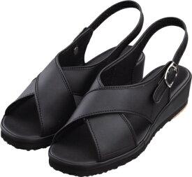 富士ゴムナース ナースシューズ オフィス サンダル 黒 売れ筋 人気 立ち仕事 靴 疲れにくい軽量タイプ ブラック | ナース服 制服 ナースサンダル 看護師 疲れない 医療用シューズ オフィスサンダル 病院 室内 ナース