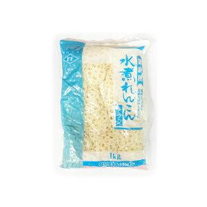 【送料込】水煮れんこん チラシ 《1kg×2袋》 藤森食品