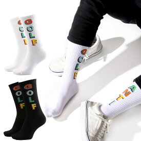 アンチゴルフ スケーター フリーサイズソックス 靴下 くつした くつ下 韓国 ソックス SOCKS スケートソックス おしゃれ靴下 メンズ靴下 メンズソックス メンズ レディース ユニセックス 男女兼用 おしゃれ かわいい 可愛い 海外 ブランド 派手 個性的