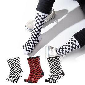 チェッカー柄 スケーター ソックス フリーサイズソックス 靴下 くつした くつ下 韓国 ソックス SOCKS スケート おしゃれ靴下 メンズ靴下 メンズソックス メンズ レディース ユニセックス 男女兼用 おしゃれ かわいい 可愛い 海外 ブランド 派手 個性的