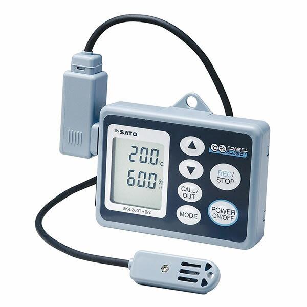 記憶計 SK-L200THα-2 データロガー 温湿度センサ一 測定範囲−10.0〜60.0℃/20.0%〜98% USB接続 最大8100データ
