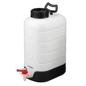 純水貯蔵瓶 10L 230x318x380mm ポリエチレン PP製 ポリタンク