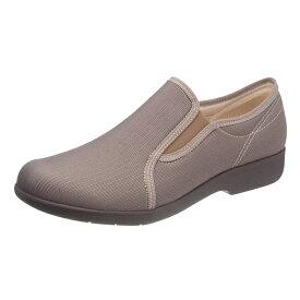 アサヒシューズ 快歩主義 L134 グレーブラウン 女性靴 健康シューズ