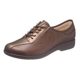 アサヒシューズ 快歩主義 L135 ブラウン 女性靴 健康シューズ