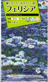 花種子 『タキイ種苗』 フェリシア スプリングメルヘン 0.4ml袋詰 約40本【送料無料】