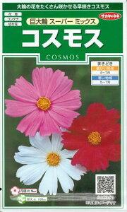 花種子 『 サカタのタネ 』 コスモス(巨大輪 スーパー) 2ml袋詰 【 送料無料 】