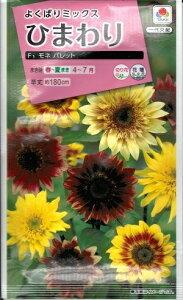 花種子 『 タキイ種苗 』 ひまわり(モネ パレット) 2ml袋詰 【 送料無料 】