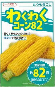 野菜種子 トウモロコシ種 『 カネコ種苗 』 わくわくコーン82 100粒袋詰 【 送料無料 】