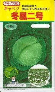 野菜種子 『タキイ種苗』 冬風二号 キャベツ 200粒袋詰 【送料無料】