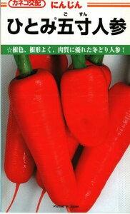 野菜種子 ニンジンたね (かねこ種苗) ひとみ五寸人参 20ml袋詰 【送料無料】