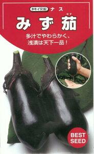 野菜種子 『茄子タネ』 タキイ交配 (タキイ種苗) みず茄 30粒袋詰 【送料無料】