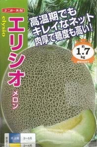 野菜種子 『メロンたね』 ナント交配 (ナント種苗) エリシオ 6粒袋詰 【送料無料】
