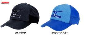 【Mizuno GOLF~ミズノ ゴルフ】ゴルフウェア・メンズキャップブレスサーモ(ゴルフ用キャップ)【ブラック】【ディーバブルー】<メンズフリー(56-60cm)>