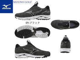 【Mizuno GOLF=ミズノ ゴルフ】ゴルフシューズ ゴルフ【ウエーブケイデンスニットスパイクレス(ゴルフ)】[メンズ]【ブラック】(24.5〜27.0、28.0、29.0cm)(シューズ幅3E相当の方向け)