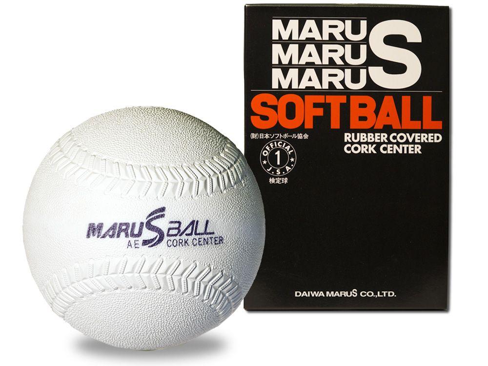 【ダイワマルエスソフトボール】ゴムソフトボール検定球1号(ホワイト)*1doz.(12個入り)単位販売*